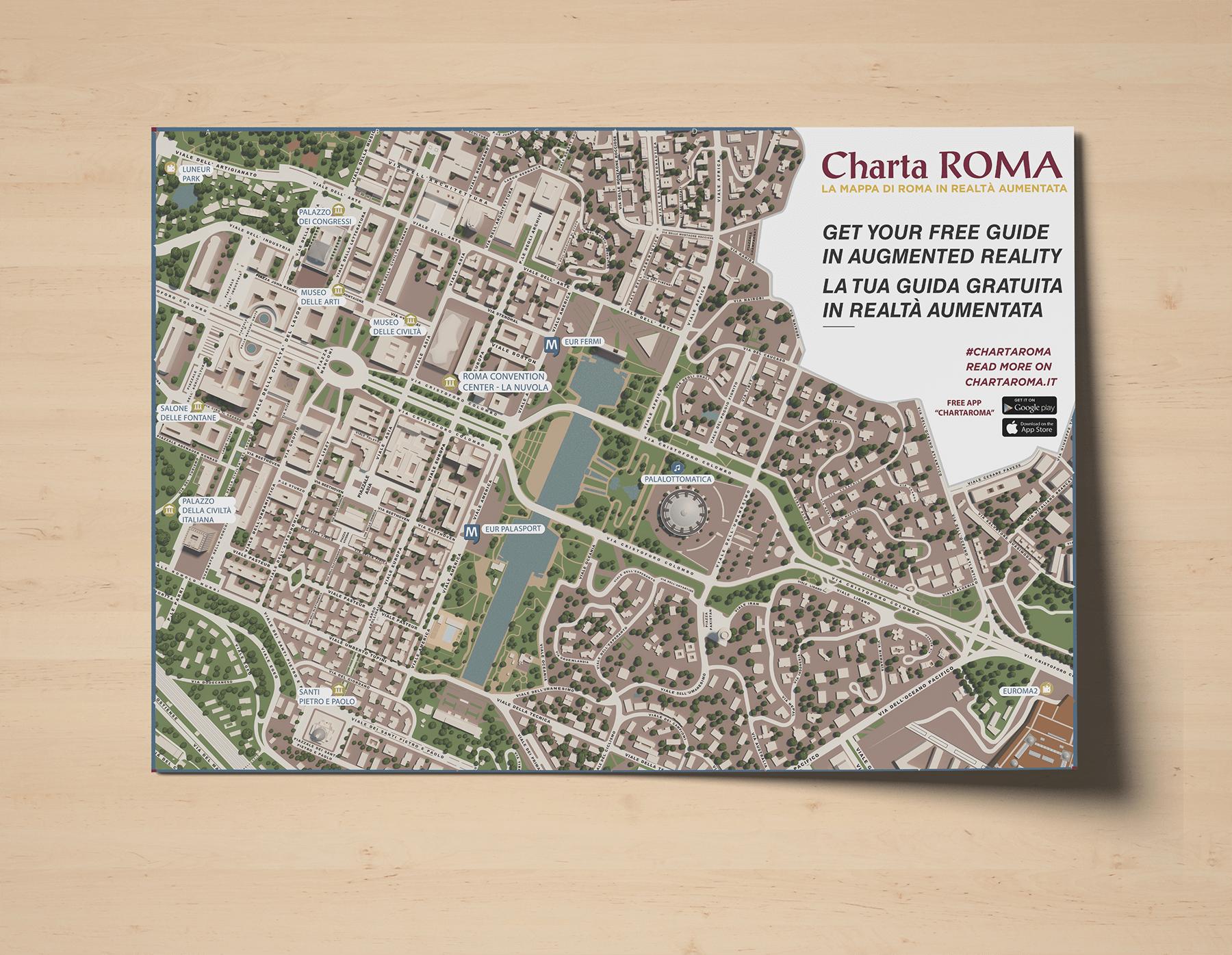 Guida di Roma in realtà aumentata per hotel - Charta Roma