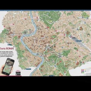Mappa di Roma personalizzata per hotel Charta Roma