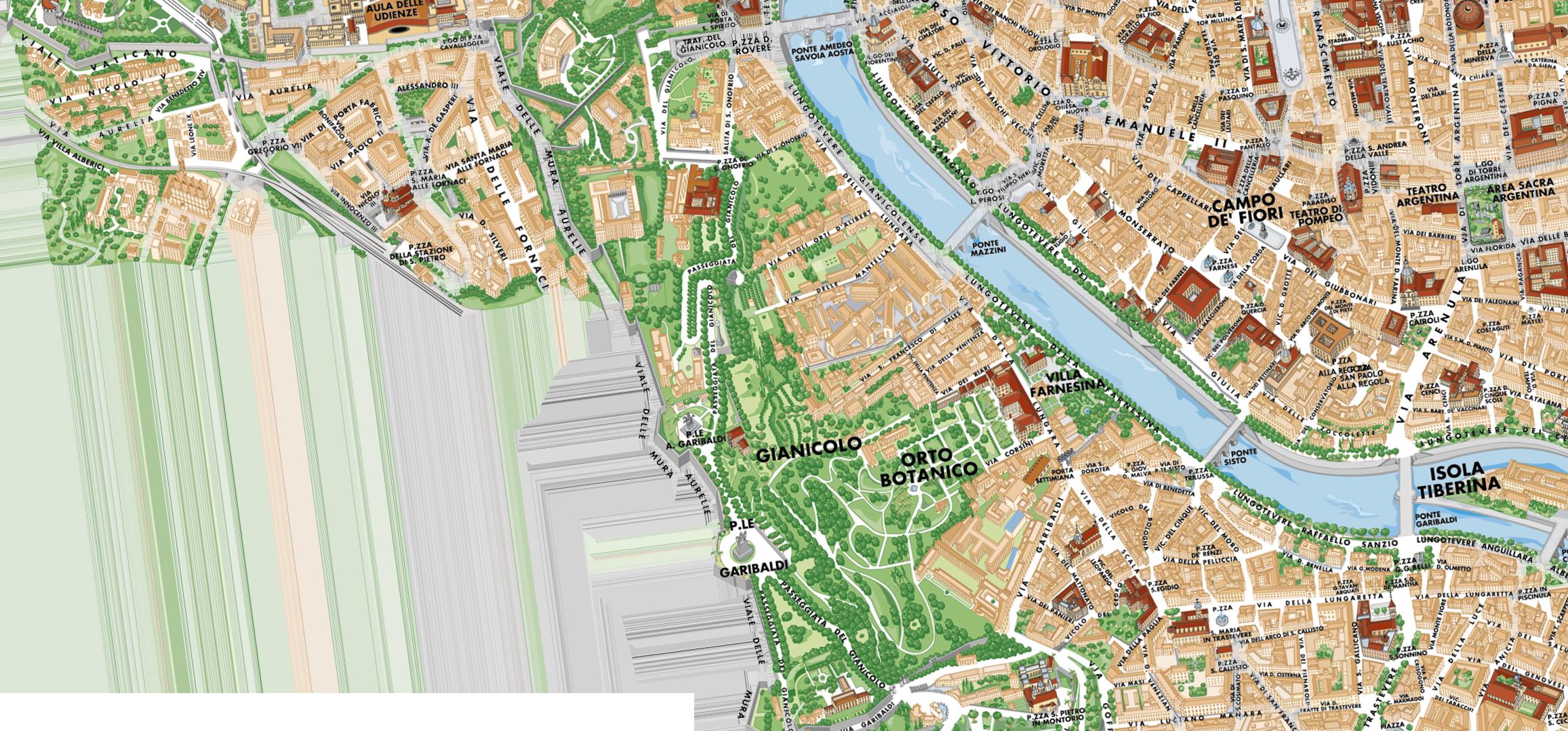 Cartina Di Roma Centro Con Monumenti.Home Charta Roma Mappe Di Roma Personalizzate