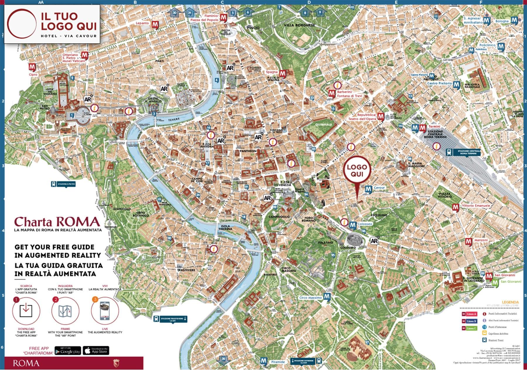 Charta Roma - Mappa personalizzata di Roma per operatori turistici